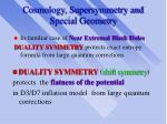 cosmology supersymmetry and special geometry