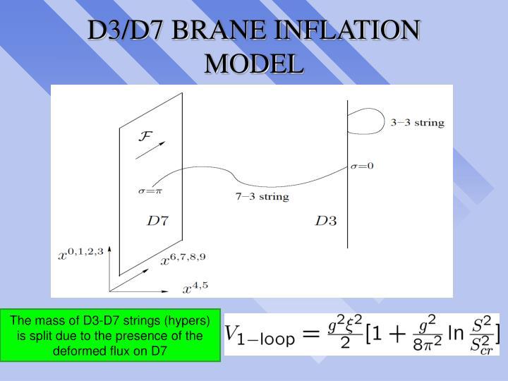 D3/D7 BRANE INFLATION MODEL