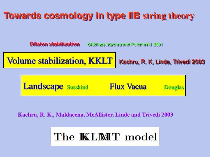 Towards cosmology in type IIB