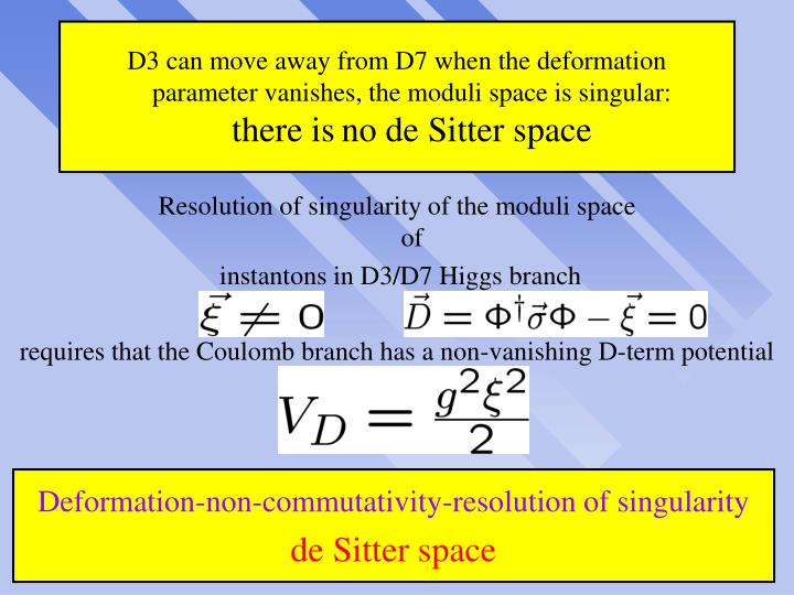 D3 can move away from D7 when the deformation
