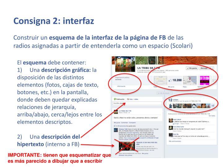 Consigna 2: interfaz