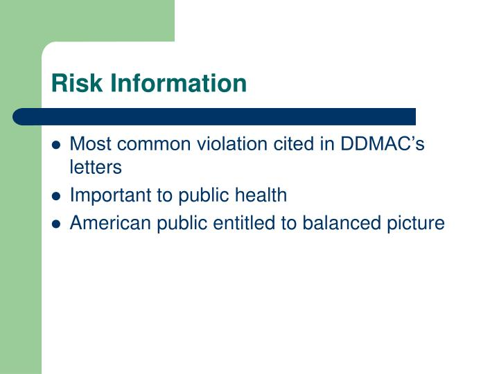 Risk Information