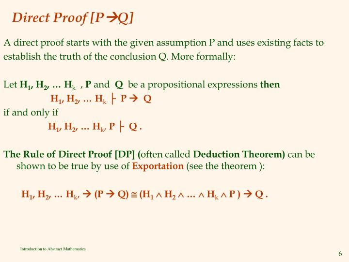 Direct Proof [P