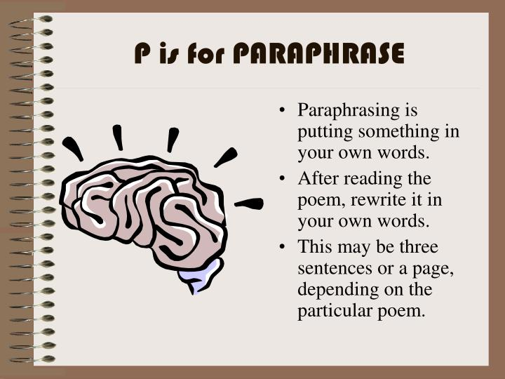 P is for PARAPHRASE