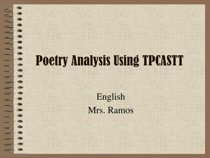 Poetry analysis using tpcastt
