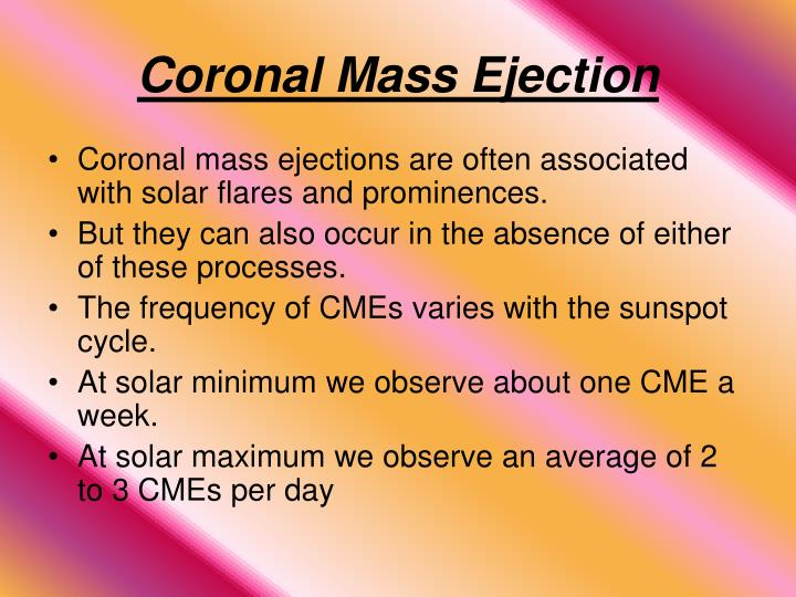 Coronal mass ejection1
