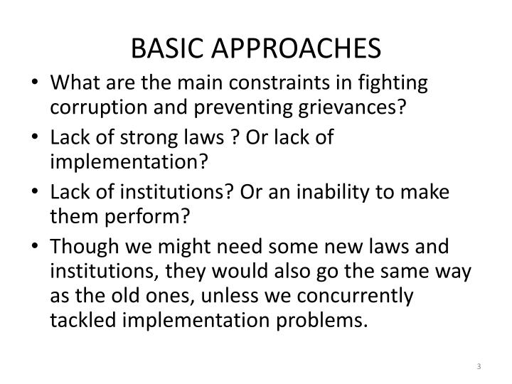 Basic approaches1