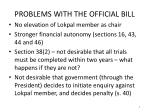problems with the official bill1