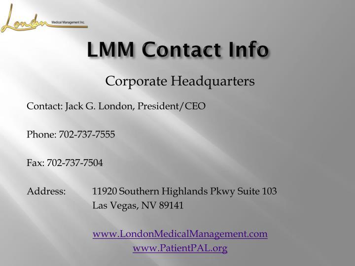 LMM Contact Info