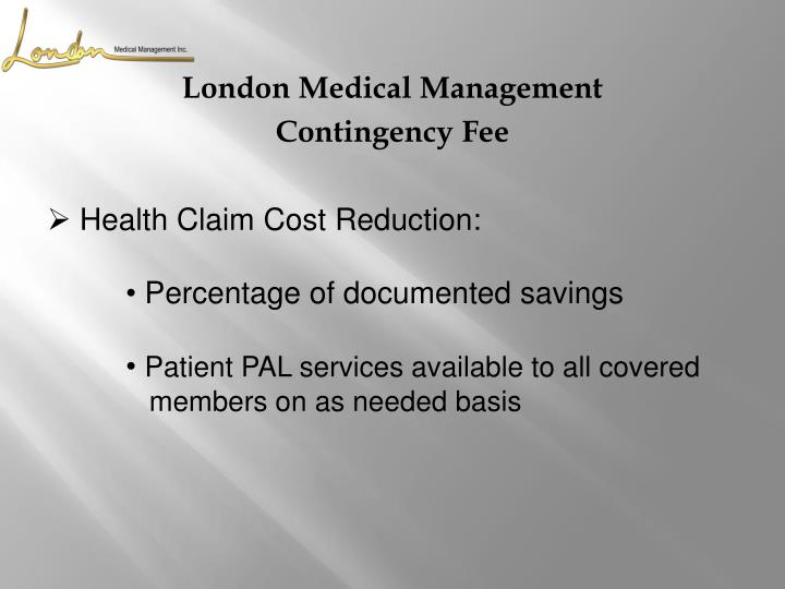 Health Claim Cost Reduction: