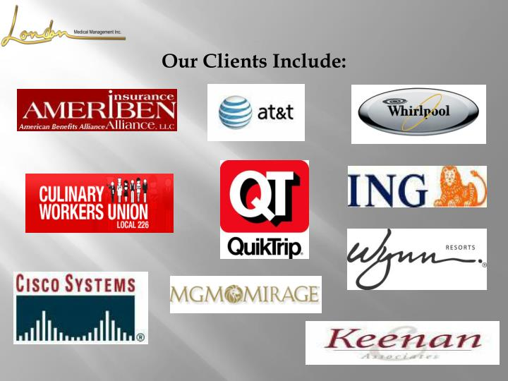 Our Clients Include: