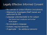 legally effective informed consent1