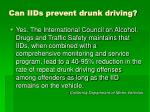 can iids prevent drunk driving