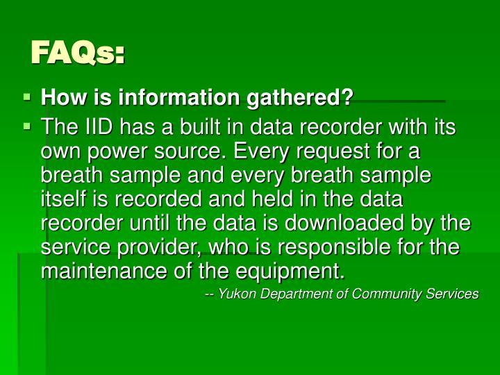 FAQs: