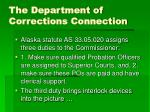 the department of corrections connection