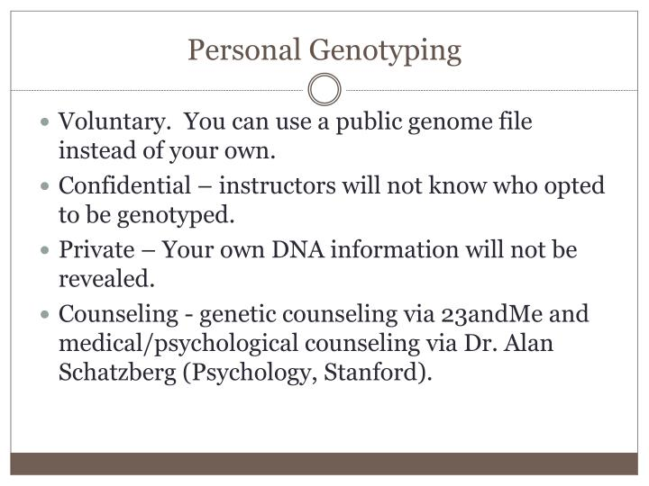Personal Genotyping
