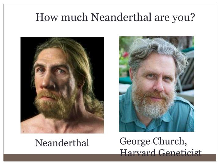 How much Neanderthal are you?