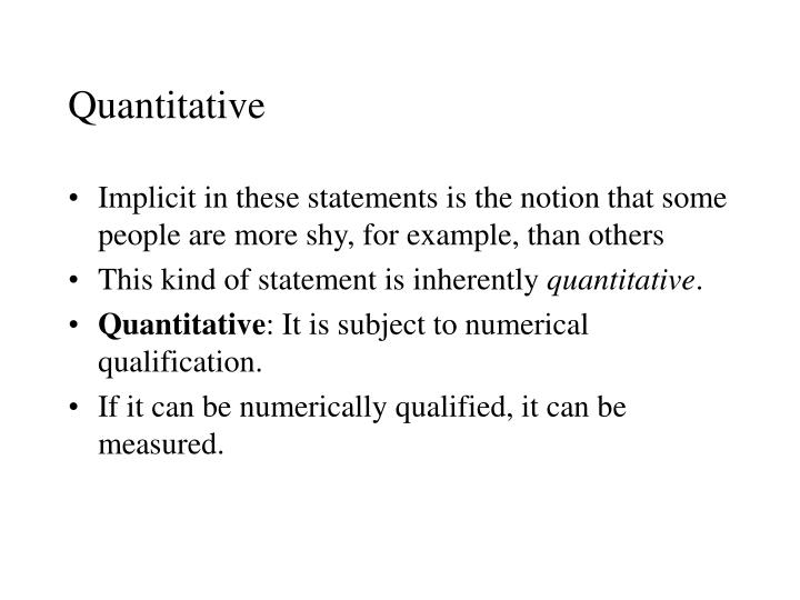 Quantitative