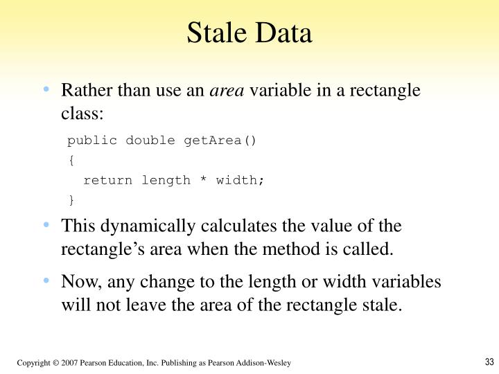 Stale Data