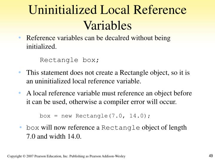 Uninitialized Local Reference Variables