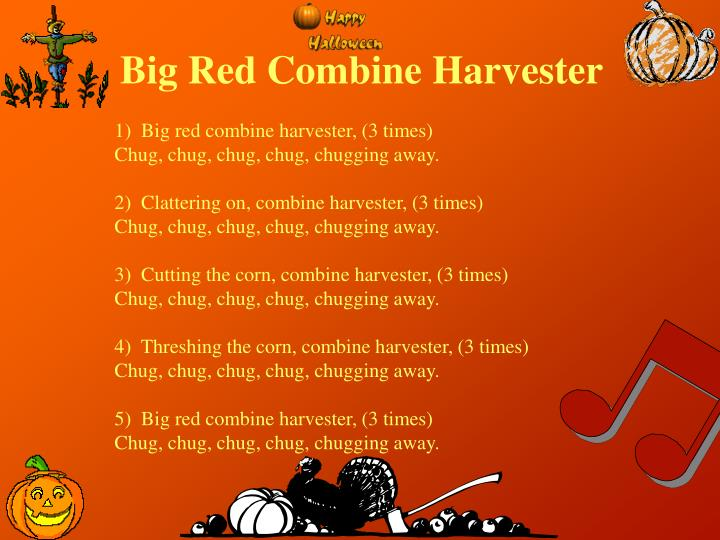 Big Red Combine Harvester