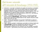 dal fronte orientale all universit di strasburgo 1914 1921