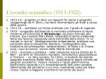 l esordio scientifico 1913 1922
