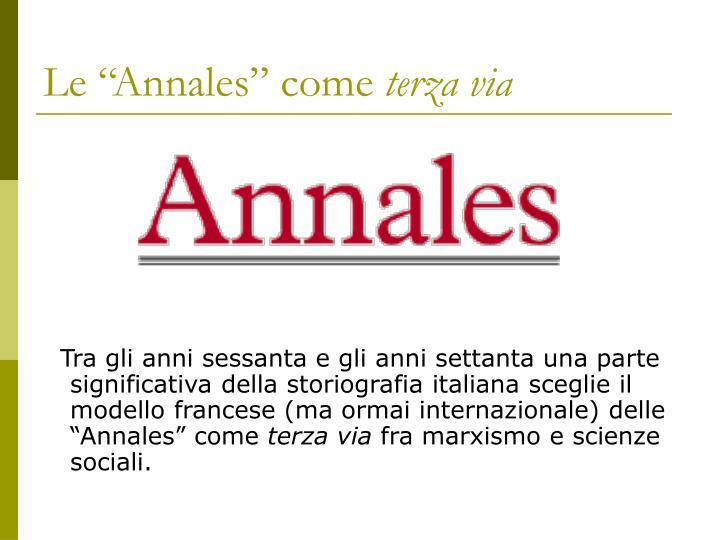 """Le """"Annales"""" come"""