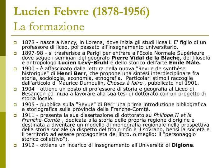 Lucien Febvre (1878-1956)