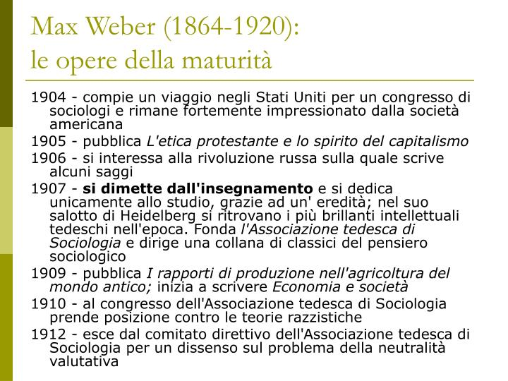 Max Weber (1864-1920):