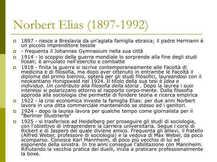 Norbert Elias (1897-1992)