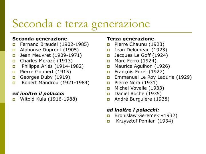 Seconda generazione