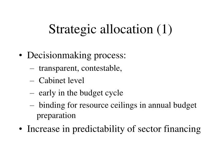 Strategic allocation (1)