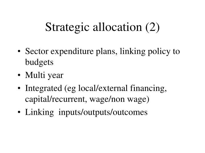 Strategic allocation (2)