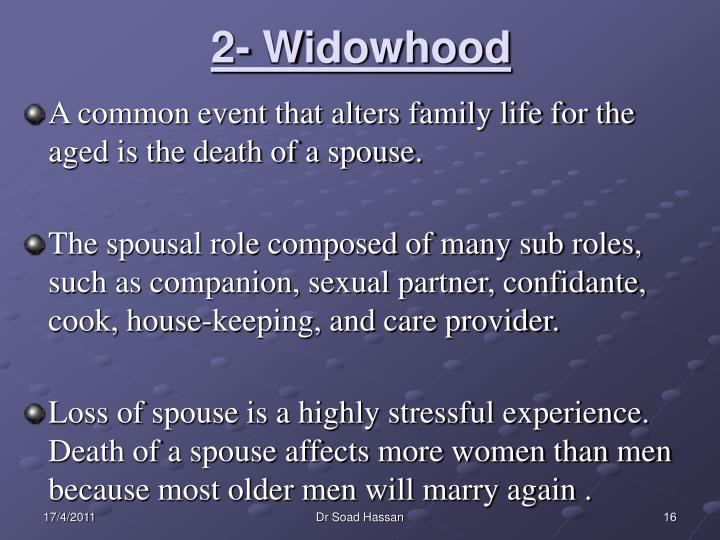 2- Widowhood