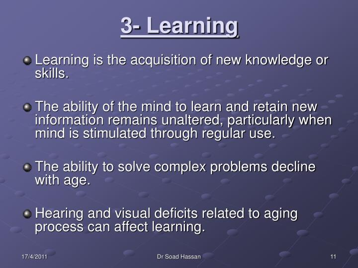 3- Learning