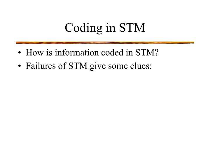 Coding in STM