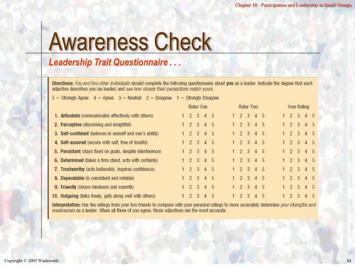 Awareness Check