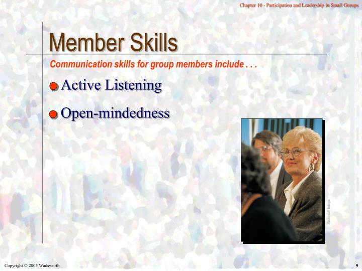 Member Skills