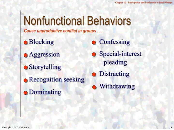 Nonfunctional Behaviors