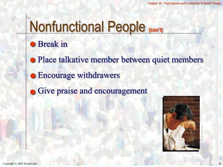 Nonfunctional People