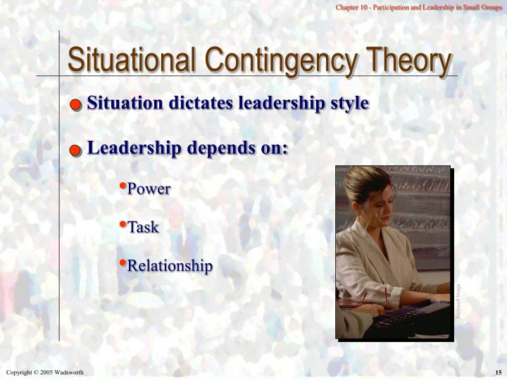 Situational Contingency Theory