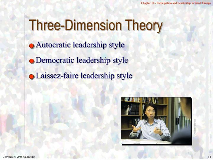 Three-Dimension Theory