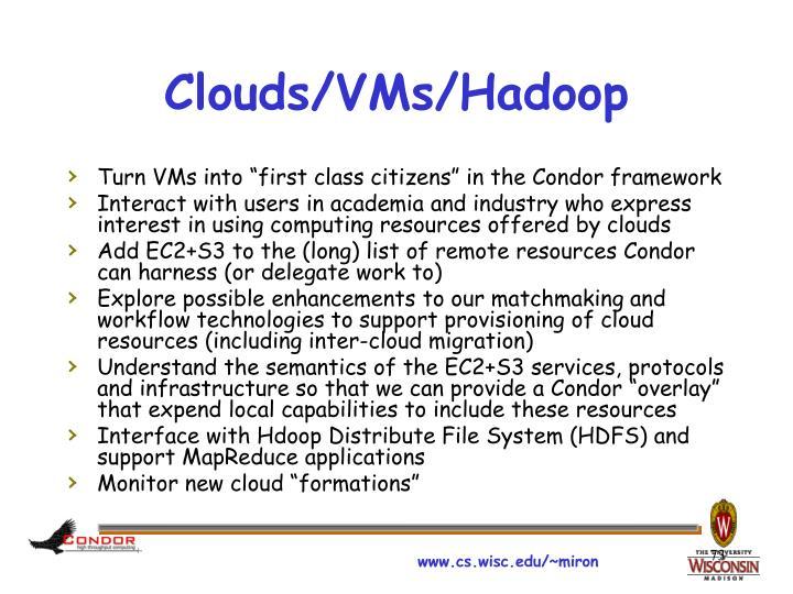Clouds/VMs/Hadoop