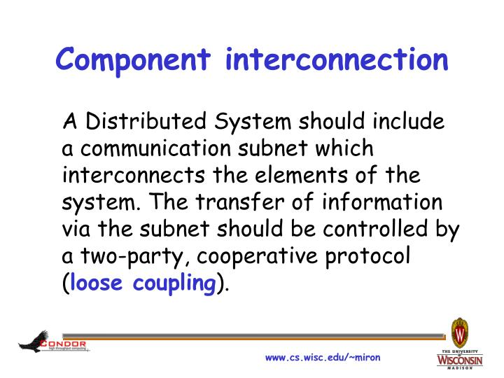 Component interconnection