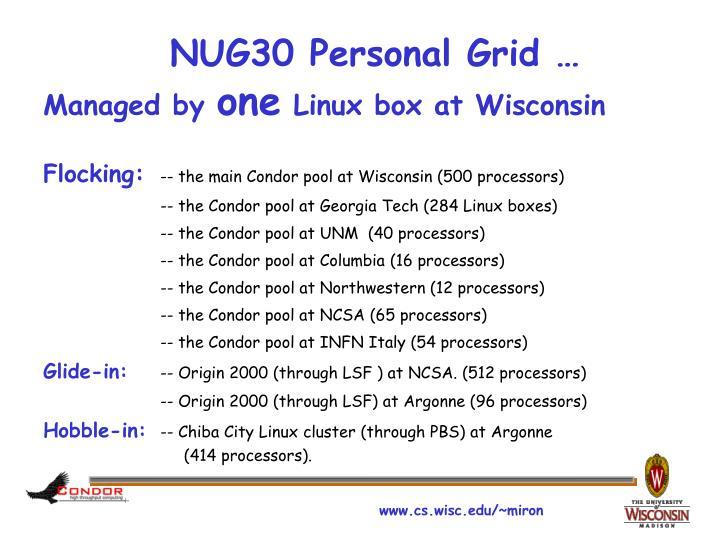 NUG30 Personal Grid …