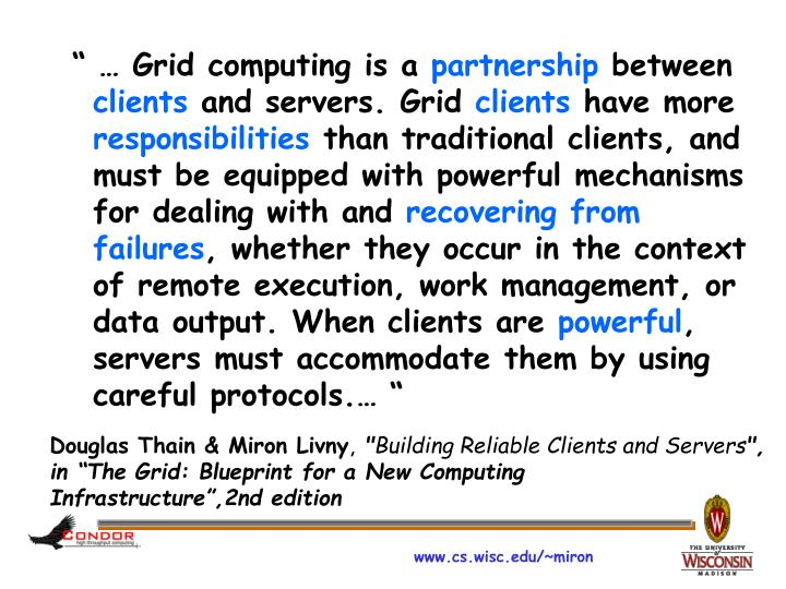""" … Grid computing is a"
