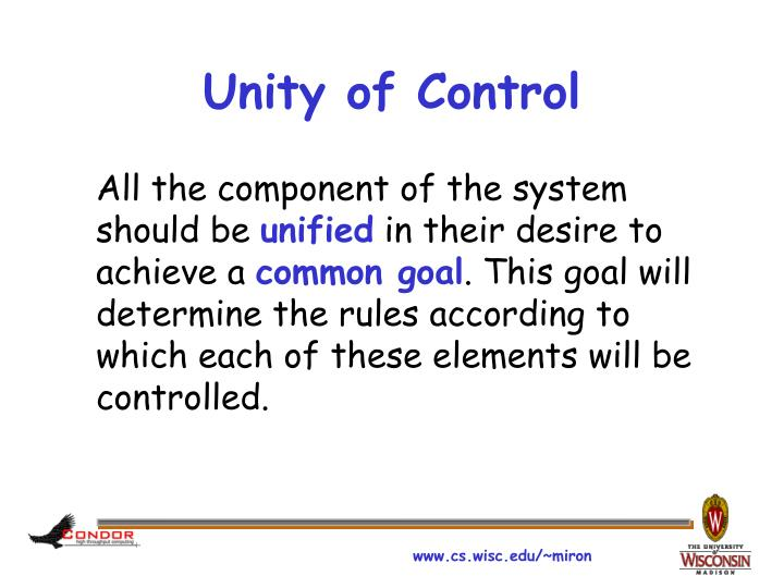 Unity of Control