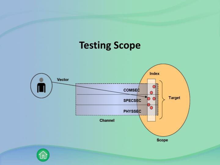 Testing Scope