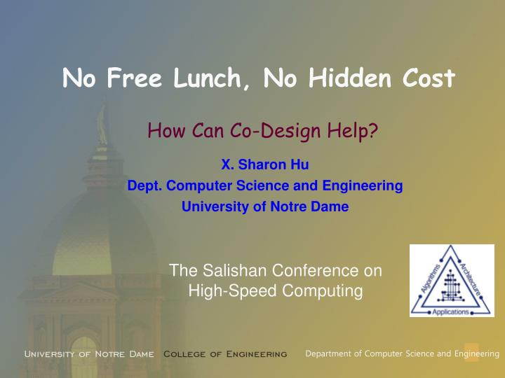 No free lunch no hidden cost